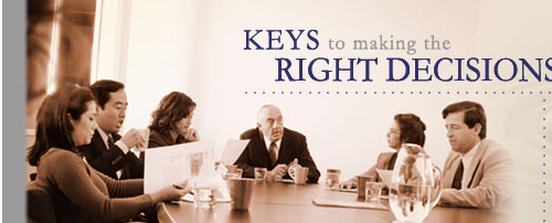 Keys to making the right decision